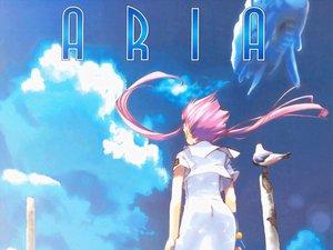 Rating: Safe Score: 9 Tags: aircraft amano_kozue animal aria bird blue clouds jpeg_artifacts long_hair mizunashi_akari pink_hair sky User: Oyashiro-sama