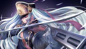 Rating: Safe Score: 67 Tags: gloves gunpuku_no_himegimi hat imo_bouya long_hair military re:creators red_eyes ribbons uniform white_hair User: BattlequeenYume