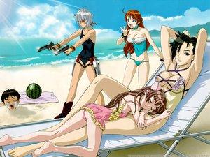 Rating: Safe Score: 15 Tags: amy bakuretsu_tenshi gun jo meg sei swimsuit weapon User: Oyashiro-sama