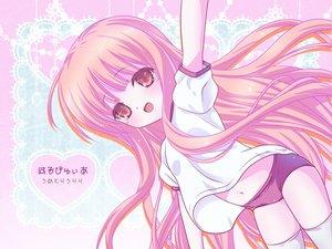Rating: Safe Score: 58 Tags: bloomers gym_uniform hakamada_hinata long_hair navel pink_eyes pink_hair ro-kyu-bu! thighhighs umetori_uriri User: SciFi