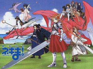 Rating: Safe Score: 27 Tags: armor asakura_kazumi ayase_yue dragon evangeline_a_k_mcdowell group japanese_clothes kagurazaka_asuna karakuri_chachamaru konoe_konoka ku_fei logo mahou_sensei_negima miyazaki_nodoka nagase_kaede negi_springfield sakurazaki_setsuna saotome_haruna staff sword tatsumiya_mana thighhighs weapon wings User: Oyashiro-sama