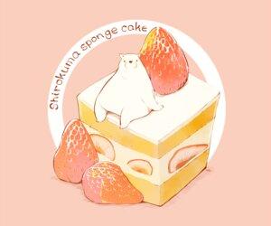 Rating: Safe Score: 21 Tags: animal bear cake chai_(artist) food fruit nobody original pink polychromatic signed strawberry User: otaku_emmy