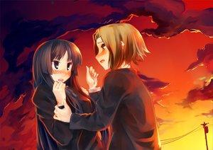 Rating: Safe Score: 13 Tags: 2girls akiyama_mio clouds k-on! pino_(birthdayparty) sky tainaka_ritsu User: HawthorneKitty