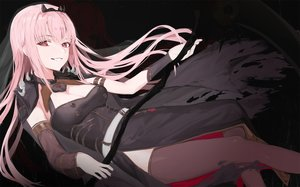 Rating: Safe Score: 55 Tags: bangosu dress hololive long_hair mori_calliope pink_eyes pink_hair scythe thighhighs weapon User: BattlequeenYume