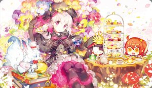 Rating: Safe Score: 42 Tags: animal blue_eyes book bow brown_hair cake doll dress drink elbow_gloves fate/grand_order fate_(series) flowers food fou_(fate/grand_order) gloves goth-loli group hat knife lolita_fashion long_hair nitocris_(fate/grand_order) nobunaga_oda_(fate) nursery_rhyme_(fate/extra) orange_hair pantyhose pink_eyes tagme_(artist) watermark white_hair yellow_eyes User: BattlequeenYume