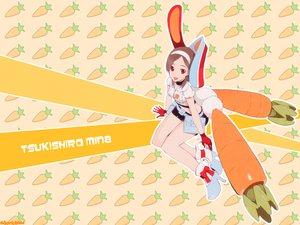 Rating: Safe Score: 6 Tags: brown_hair bunnygirl food getsumen_to_heiki_mina red_eyes tsukuda_mina User: Oyashiro-sama