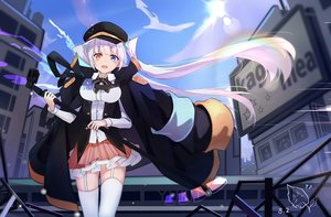 Rating: Safe Score: 60 Tags: bicolored_eyes breasts cape garter_belt hat jpeg_artifacts kagura_mea kagura_mea_channel long_hair microphone stockings tagme_(artist) thighhighs twintails User: RyuZU
