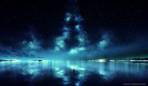 Rating: Safe Score: 76 Tags: clouds kijineko original reflection scenic sky stars watermark User: RyuZU