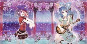 Rating: Safe Score: 46 Tags: dress flowers guitar hat instrument kaku_seiga miyako_yoshika neme touhou User: opai