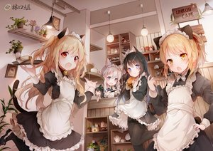 Rating: Safe Score: 146 Tags: amafuyu animal_ears apron bell black_hair blonde_hair blue_eyes bow catgirl chibi collar drink fang flat_chest food game_console gray_hair group headdress loli long_hair maid original pantyhose ponytail red_eyes short_hair tail twintails waitress yellow_eyes User: Fepple