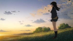 Rating: Safe Score: 14 Tags: black_hair clouds grass jpeg_artifacts kneehighs long_hair mclelun original scenic seifuku skirt sky watermark User: RyuZU