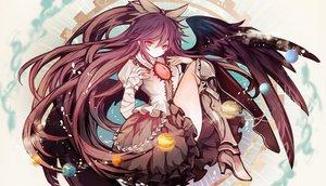 Rating: Safe Score: 147 Tags: hina_(pico) long_hair reiuji_utsuho touhou wings User: Wiresetc