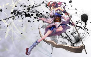 Rating: Safe Score: 176 Tags: japanese_clothes onozuka_komachi red_hair scythe shiroi_karasu touhou weapon User: TheDeadLike