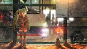 Rating: Safe Score: 122 Tags: green_eyes green_hair hatsune_miku nadezita snow thighhighs twintails vocaloid User: FormX