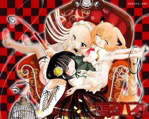 Rating: Safe Score: 21 Tags: cage kagami_kuro kodomo_no_jikan kokonoe_rin loli sleeping usa_mimi_(character) User: Oyashiro-sama