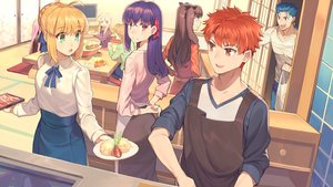Rating: Safe Score: 47 Tags: apron aqua_eyes artoria_pendragon_(all) bianyuanqishi blonde_hair blue_hair blush braids brown_hair cu_chulainn drink emiya_shirou fate_(series) fate/stay_night food fujimura_taiga green_eyes group illyasviel_von_einzbern loli long_hair male matou_sakura pink_eyes pink_hair purple_hair red_eyes red_hair ribbons rider saber short_hair skirt tohsaka_rin User: RyuZU