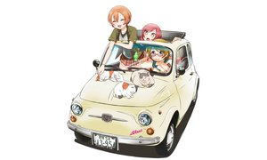 Rating: Safe Score: 97 Tags: animal car cat glasses hoshizora_rin koizumi_hanayo love_live!_school_idol_project nishikino_maki sweeter_(h110111) white User: gnarf1975