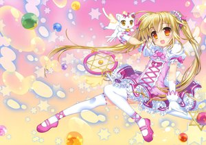 Rating: Safe Score: 76 Tags: animal blonde_hair cat dress fujima_takuya tagme thighhighs twintails User: Wiresetc