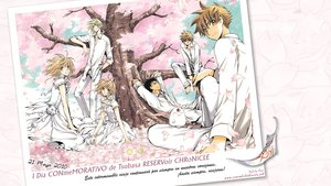Rating: Safe Score: 20 Tags: black_hair blonde_hair blue_eyes brown_eyes brown_hair cherry_blossoms choker clamp dress fay_d_flourite feathers flowers group kurogane male mokona petals sakura_(tsubasa) short_hair syaoran translation_request tree tsubasa_reservoir_chronicle watermark yellow_eyes User: Clow