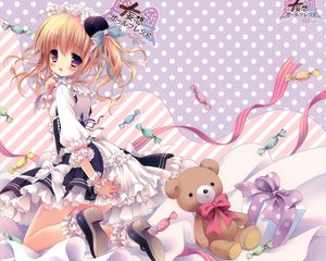 Rating: Safe Score: 93 Tags: candy lolita_fashion morinaga_korune original scan teddy_bear twintails User: Wiresetc