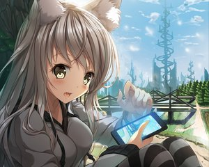 Rating: Safe Score: 296 Tags: animal_ears cropped foxgirl original phone re:n_ne User: Wiresetc
