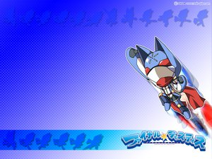 Rating: Safe Score: 3 Tags: animal_ears blue cape final_justice gloves mask robot scarf stars watermark User: atlantiza