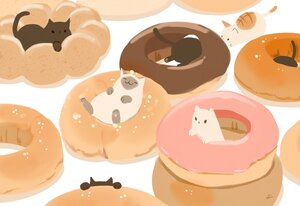 Rating: Safe Score: 25 Tags: animal cat chai_(artist) chocolate food nobody original signed User: otaku_emmy