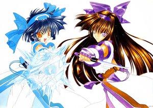 Rating: Safe Score: 0 Tags: blue_hair brown_hair gloves headband nakoruru nanase_aoi orange_eyes purple_eyes samurai_spirits weapon User: 秀悟