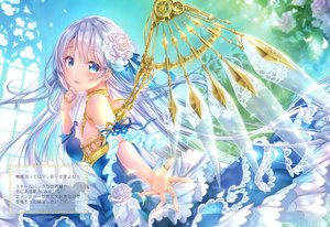 Rating: Safe Score: 52 Tags: dress flowers long_hair momo_moyon rose scan tagme_(character) wings User: BattlequeenYume