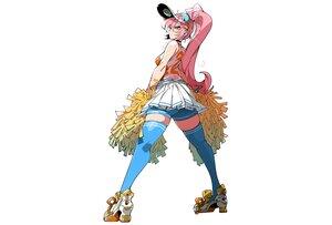 Rating: Safe Score: 46 Tags: ass bike_shorts cheerleader choker hat kafun long_hair orange_eyes original pink_hair ponytail shorts skirt thighhighs white zettai_ryouiki User: otaku_emmy
