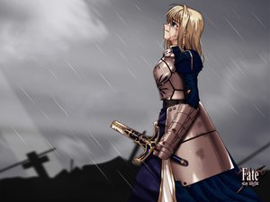Rating: Safe Score: 12 Tags: artoria_pendragon_(all) fate_(series) fate/stay_night rain saber sky water User: 秀悟