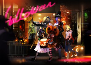 Rating: Safe Score: 111 Tags: alphonse animal aqua_hair blonde_hair blue_hair cat catboy collar group halloween hat hatsune_miku headphones kagamine_len kagamine_rin kaito male pumpkin skirt thighhighs vocaloid witch User: NERVchild