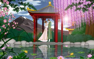 Rating: Safe Score: 25 Tags: brown_hair cherry_blossoms dress flowers male sakura_(tsubasa) short_hair syaoran third-party_edit tsubasa_reservoir_chronicle vector water watermark User: gnarf1975