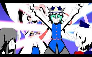 Rating: Safe Score: 3 Tags: houraisan_kaguya onozuka_komachi scythe shikieiki_yamaxanadu touhou weapon yagokoro_eirin User: YtRaM