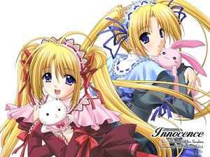 Rating: Safe Score: 32 Tags: blonde_hair blue_eyes bunny headband innocence long_hair nishimata_aoi ribbons suzuhira_hiro twins twintails white User: Oyashiro-sama