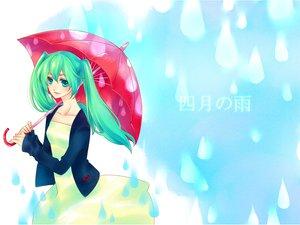 Rating: Safe Score: 19 Tags: hatsune_miku natsuki0910 twintails umbrella vocaloid User: HawthorneKitty