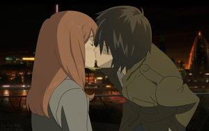 Rating: Safe Score: 71 Tags: higashi_no_eden kiss morimi_saki takizawa_akira User: Jeffusz