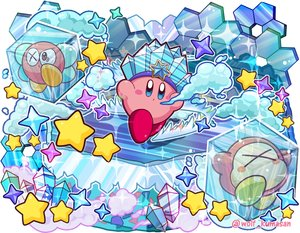 Rating: Safe Score: 16 Tags: bronto_burt crown kirby kirby_(character) ninjya_palette stars waddle_dee waifu2x watermark User: otaku_emmy