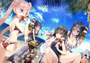 Rating: Safe Score: 239 Tags: 218 ass beach bikini clouds drink food glasses group original scenic sky swimsuit water User: Flandre93