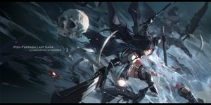Rating: Safe Score: 56 Tags: armor black_hair elbow_gloves eyepatch gloves original pixiv_fantasia skull swd3e2 sword thighhighs watermark weapon User: RyuZU