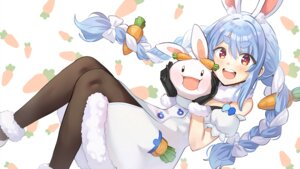 Rating: Safe Score: 32 Tags: animal_ears blue_hair blush braids bunny_ears bunnygirl dress hololive kkamja long_hair pantyhose red_eyes twintails usada_pekora white User: otaku_emmy