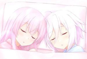 Rating: Safe Score: 29 Tags: 2girls itomi_sayaka polychromatic sleeping tagme_(artist) toji_no_miko tsubakuro_yume User: sadodere-chan