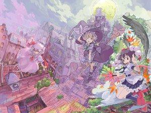 Rating: Safe Score: 36 Tags: kirisame_marisa moon night remilia_scarlet scenic shameimaru_aya touhou vampire witch yuji_(masterpiece) User: c86