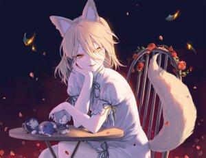 Rating: Safe Score: 74 Tags: animal_ears blonde_hair doll dress flowers foxgirl hajin kudamaki_tsukasa petals rose tail touhou yellow_eyes User: BattlequeenYume