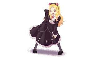 Rating: Safe Score: 88 Tags: 960_kuron blonde_hair blush cosplay dress eromanga-sensei goth-loli headband lolita_fashion long_hair ore_no_imouto_ga_konna_ni_kawaii_wake_ga_nai pink_eyes pointed_ears white yamada_elf User: RyuZU