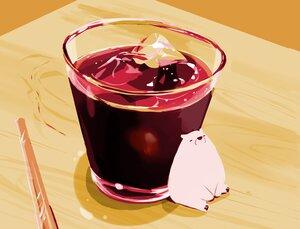 Rating: Safe Score: 30 Tags: animal bear chai_(artist) drink nobody original polychromatic signed User: otaku_emmy