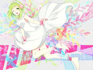 Rating: Safe Score: 35 Tags: achiki barefoot dress flowers gumi vocaloid User: MissBMoon