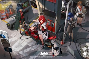 Rating: Safe Score: 70 Tags: animal animal_ears arknights bicycle blue_hair croissant_(arknights) exusiai_(arknights) group halo horns jane_xiao long_hair mostima_(arknights) penguin ponytail red_hair short_hair texas_(arknights) the_emperor_(arknights) wolfgirl User: BattlequeenYume