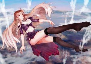 Rating: Safe Score: 18 Tags: clouds dress long_hair nopan original sasagawa_(haikaiki) sky thighhighs User: Wiresetc