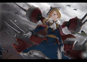 Rating: Safe Score: 43 Tags: aircraft anthropomorphism azur_lane blonde_hair blue_eyes combat_vehicle gloves hood_(azur_lane) long_hair nanahara_fuyuki sky uniform User: RyuZU